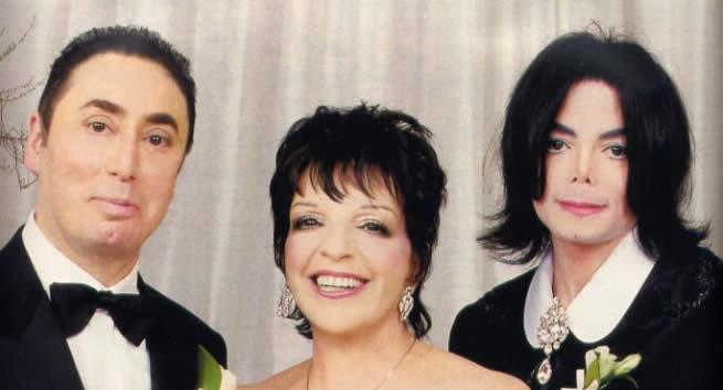 David Gest, Liza Minnelli and Michael Jackson