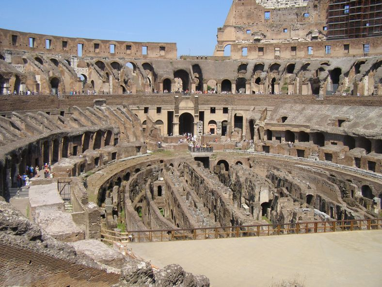 Here you see the inside of The Colosseum, the seats for the loud crowd.
