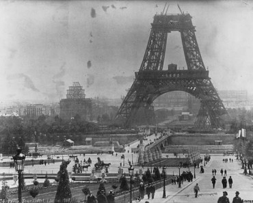 The Eiffel Tower during construction in July 1888 (image source)
