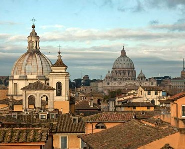 Some rooftops in Rome. What a wonderful view.