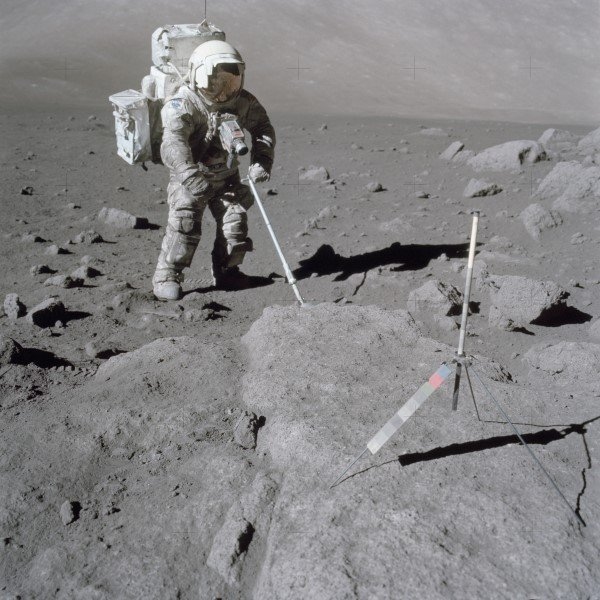 man on moon in his space suit