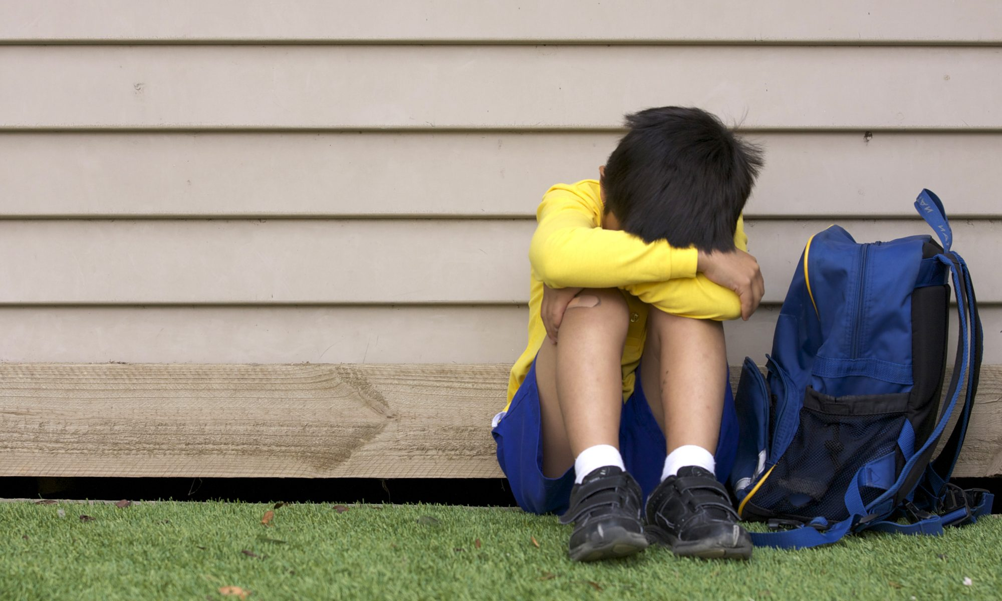 child upset at the thought of going to school