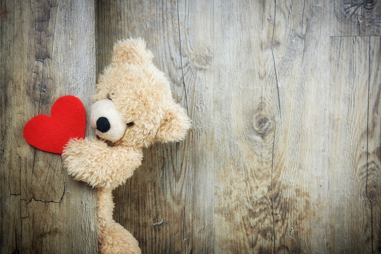 bear with love heart
